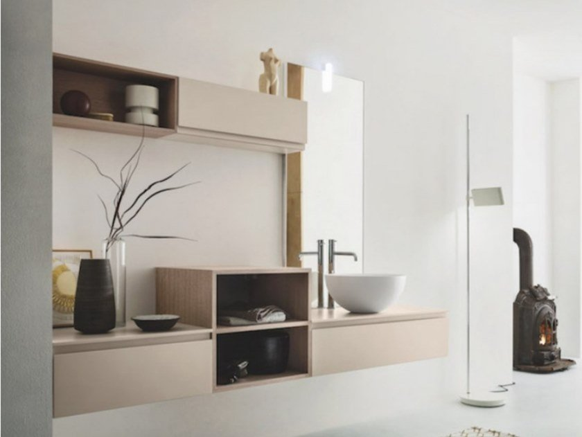 Wall-mounted vanity unit with drawers STREET 24 by Arbi Arredobagno