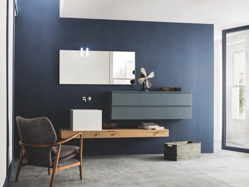 Wall-mounted vanity unit with drawers STREET 28 by Arbi Arredobagno