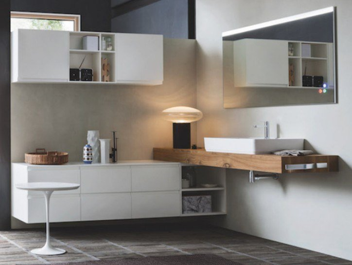 Wall-mounted vanity unit with drawers STREET 40 by Arbi Arredobagno