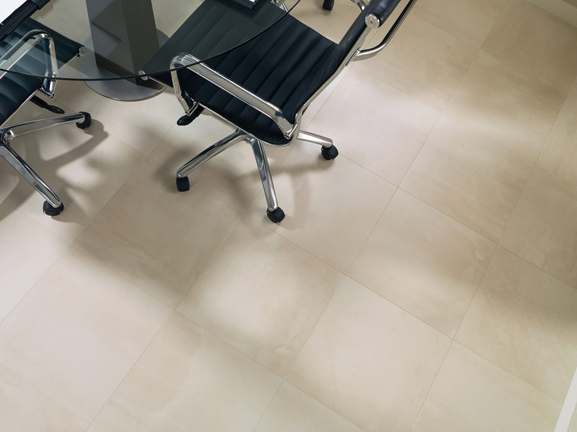 Porcelain stoneware wall/floor tiles with concrete effect STREET BEIGE by URBATEK