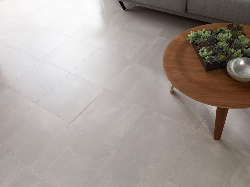 Porcelain Stoneware Wall Floor Tiles With Concrete Effect Street Caliza By Urbatek