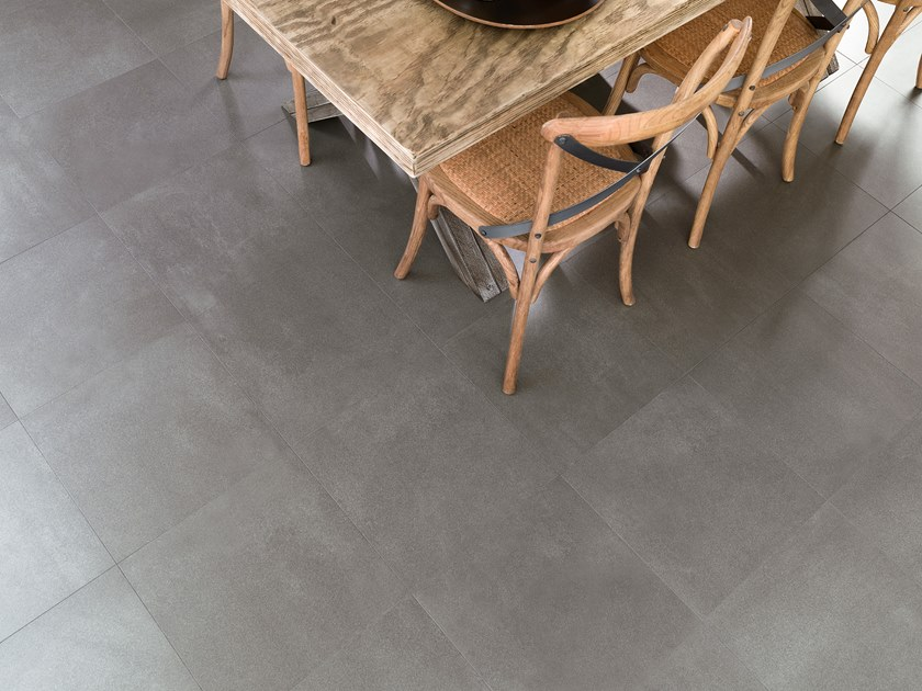 Porcelain stoneware wall/floor tiles with concrete effect STREET COAL by URBATEK