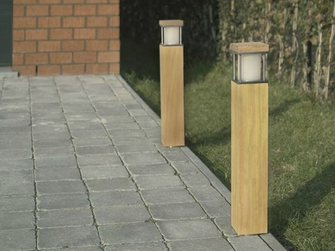 Contemporary style halogen bollard light STRIDA KFL by BEL-LIGHTING