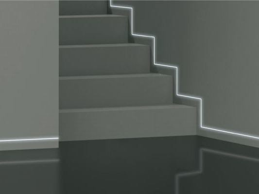 LED aluminium Skirting board STRIP by ROYAL PAT