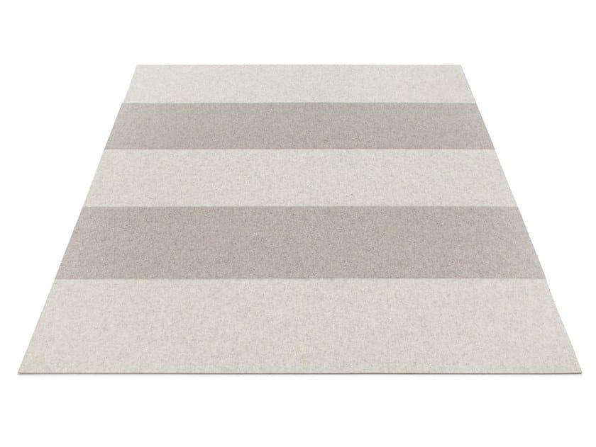 Rectangular felt rug STRIPE 2 by HEY-SIGN