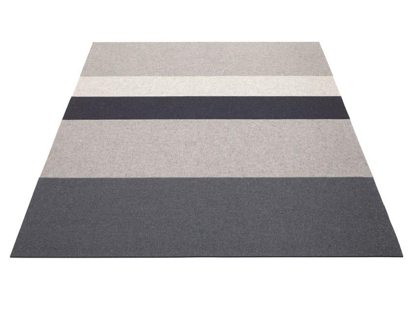 Rectangular felt rug STRIPE 4 by HEY-SIGN