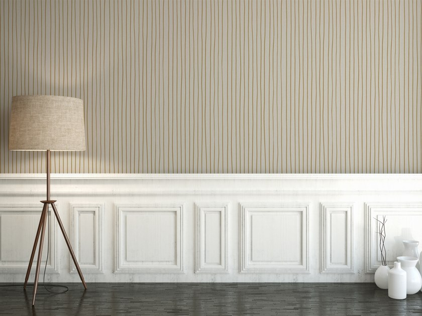 Striped washable vinyl wallpaper STRIPES by Baboon