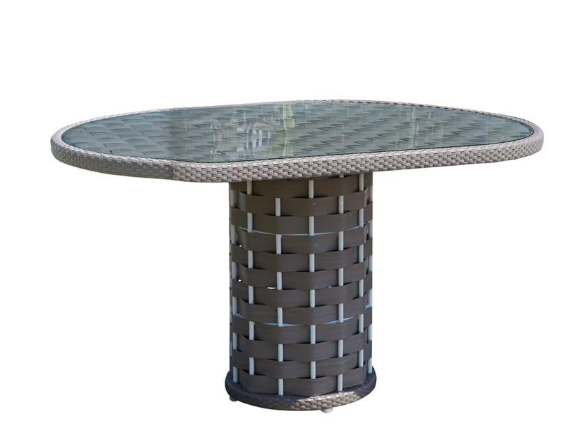 Round garden table STRIPS 23213 by SKYLINE design