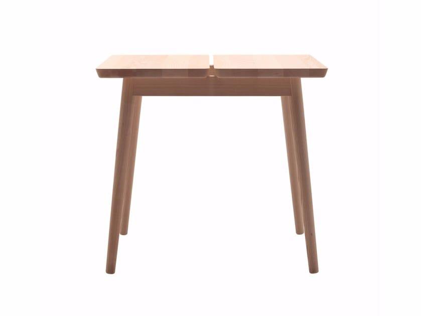 Square ash table STUBE | Square table by Cizeta L'Abbate