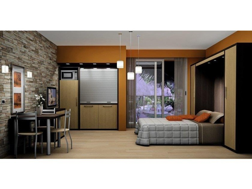 Contemporary style Hotel bedroom STUDIO LARICE E WENGE by Mobilspazio