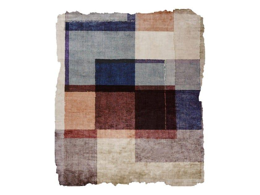 Handmade silk rug P102 DUKE EP RAW ICE CUT by HENZEL STUDIO