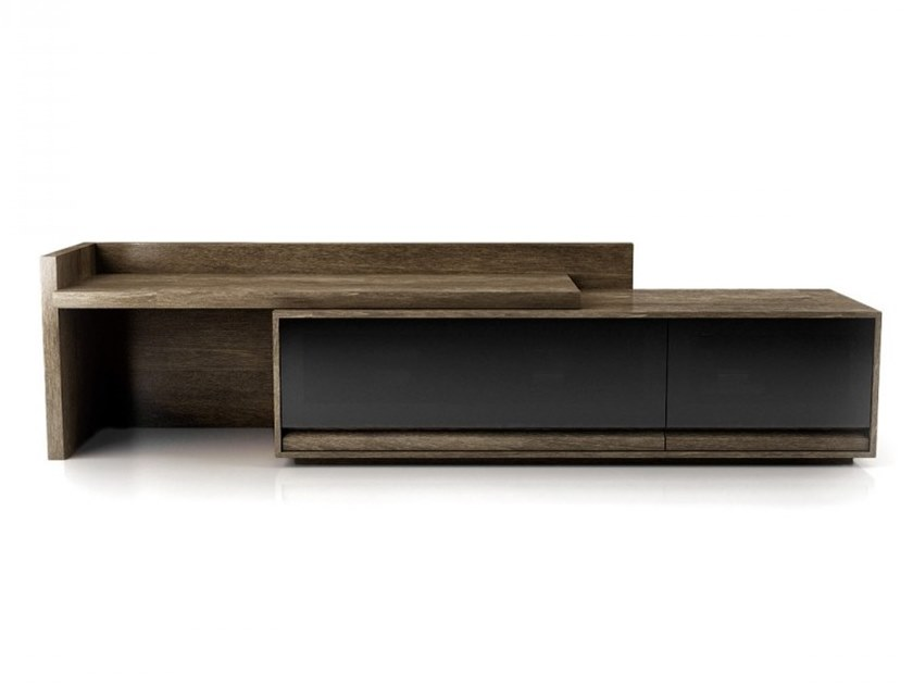 Wood and glass TV cabinet with drawers STUDIO | TV cabinet by Huppé