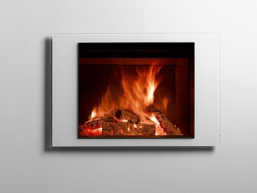 Wood-burning open built-in steel fireplace STÛV 22-90 H4 by Stûv