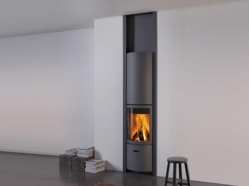 Wood-burning swivel steel stove STÛV 30-IN R by Stûv