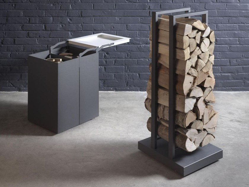 Steel Log holder Log holder by Stûv