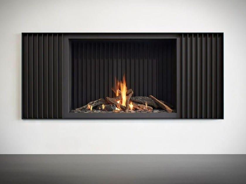 Gas open steel fireplace STÛV B-100 H PB by Stûv