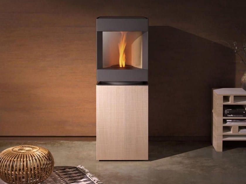 Pellet swivel steel and wood stove STÛV P-10   Steel and wood stove by Stûv