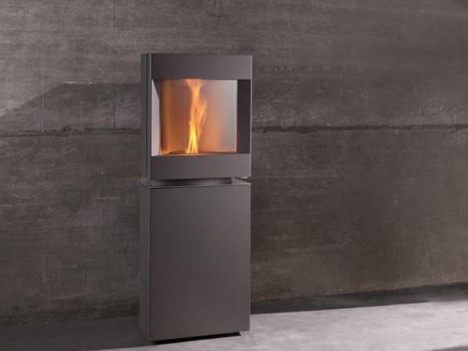 Pellet swivel steel stove STÛV P-10 | Steel stove by Stûv