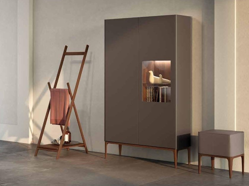 Tall sectional ash bathroom cabinet with doors SU13 | Bathroom cabinet by Mobiltesino