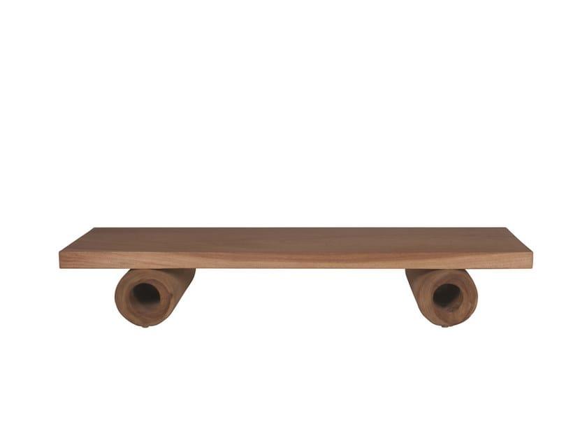 Low rectangular Suar wood garden side table SUAR | Rectangular coffee table by Il Giardino di Legno