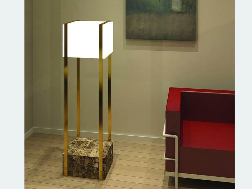 LED marble floor lamp SUITCASE | Floor lamp by Ledevò