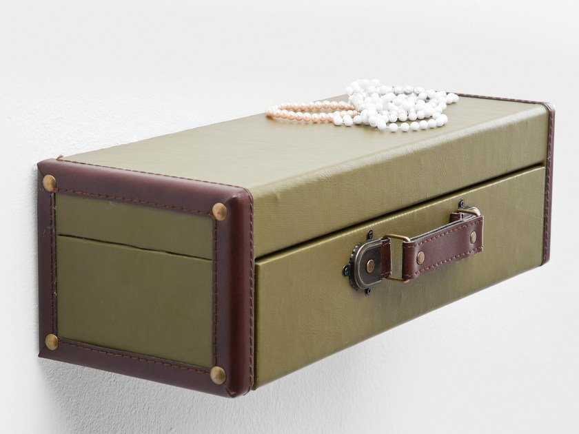 Wall shelf SUITCASE GREEN by KARE-DESIGN