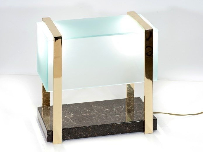 LED marble table lamp SUITCASE RECTANGULAR by Ledevò