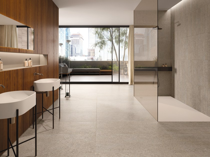 Porcelain stoneware wall/floor tiles with stone effect SUITE BEIGE by CERAMICHE KEOPE