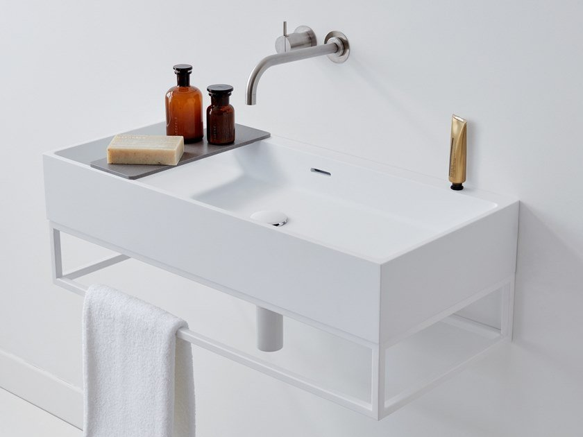 Wall-mounted washbasin with towel rail SUITE by Not Only White