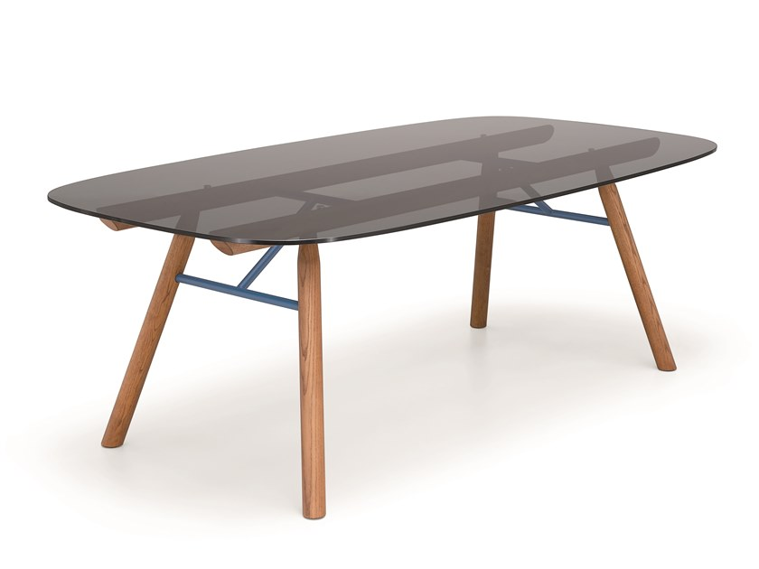 Rectangular crystal table SUITE | Table by Midj