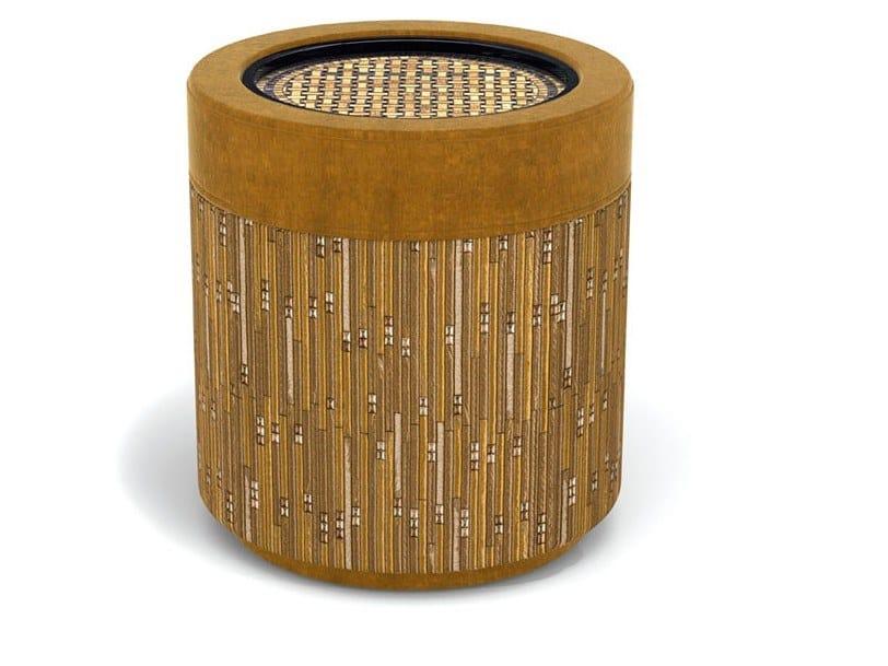Tavolino di servizio rotondo in legno massello SULTAN by Sicis