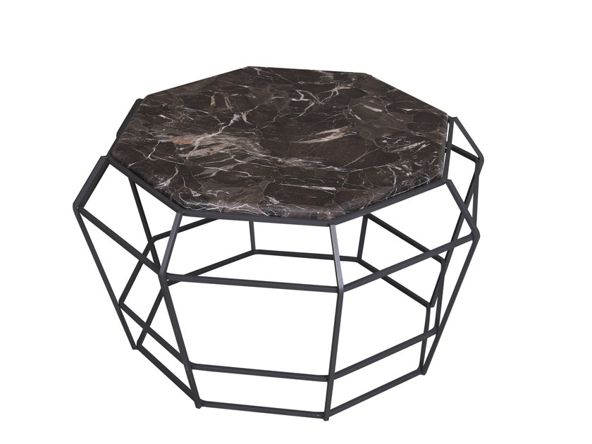 Low marble coffee table SULTANA COCKTAIL by Hamilton Conte Paris