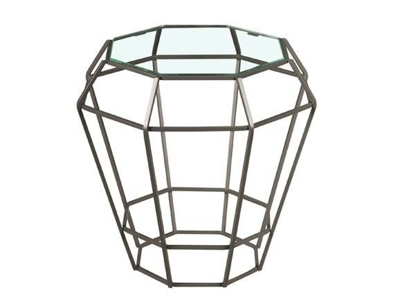 Glass side table SULTANA | Glass coffee table by Hamilton Conte Paris