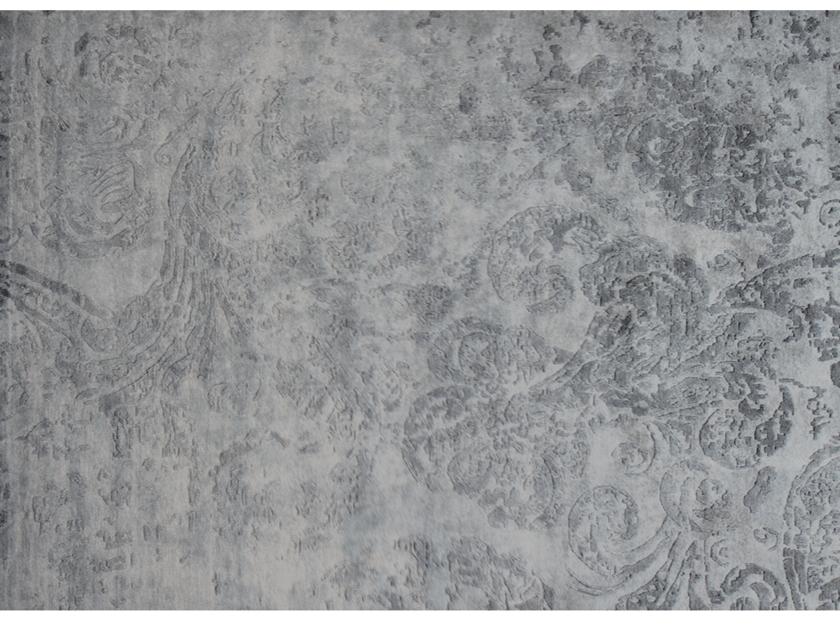 Handmade rectangular rug SUMATRA SILEX by EDITION BOUGAINVILLE