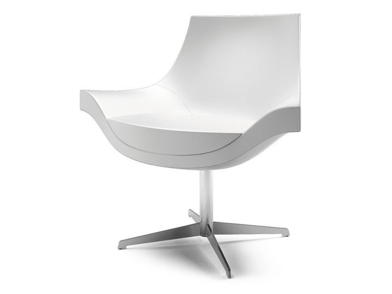 Swivel fabric easy chair with 4-spoke base SUMI | Easy chair with 4-spoke base by Cizeta