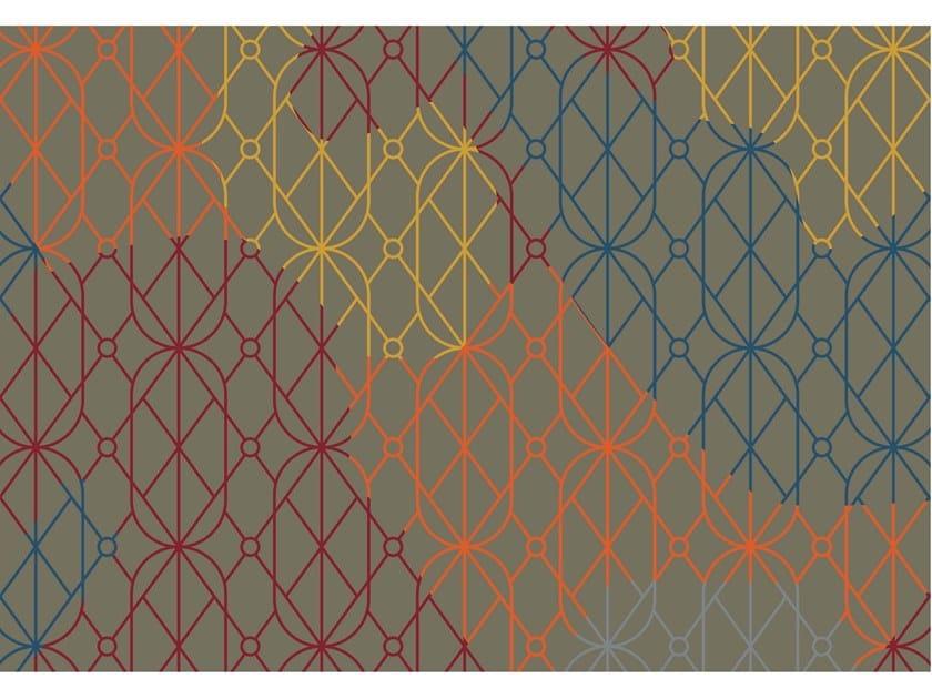 Tappeto rettangolare Jacquard stampato a tessitura SUMMER DARK | Tappeto rettangolare by MEMEDESIGN