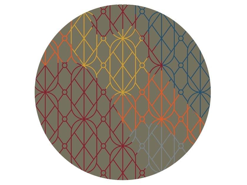 Tappeto rotondo Jacquard stampato a tessitura SUMMER DARK | Tappeto rotondo by MEMEDESIGN