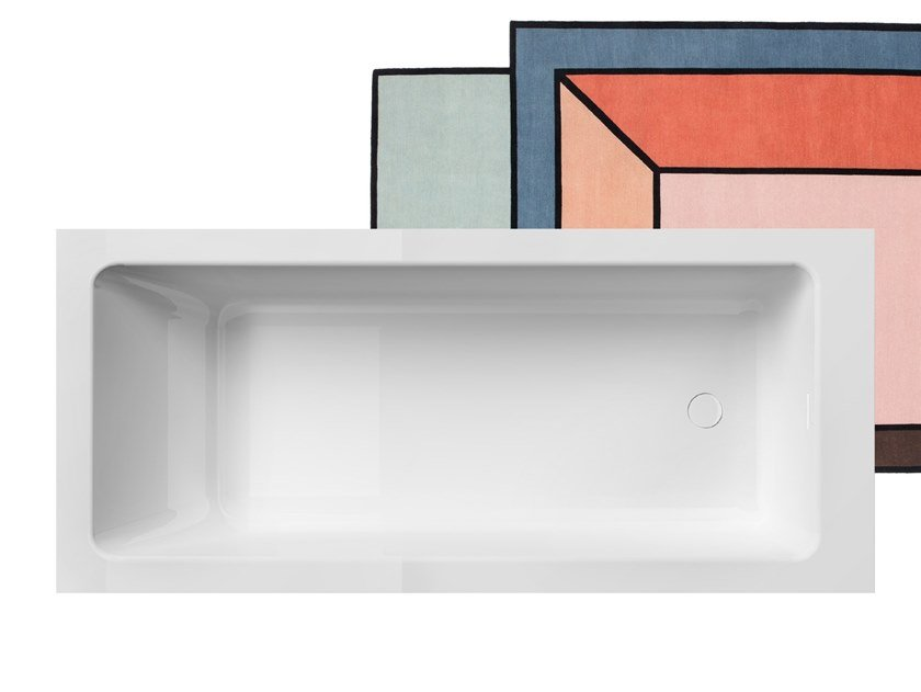Rectangular Solid Surface bathtub SUMMERTIME 180 by Gruppo Treesse