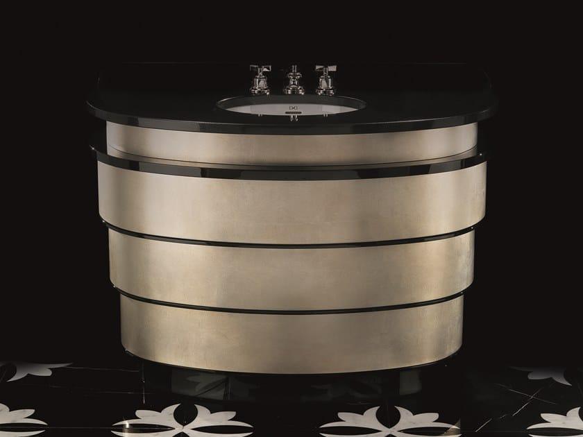 Vanity unit with drawers SUMMERTIME ALUMINIUM LEAF by Devon&Devon
