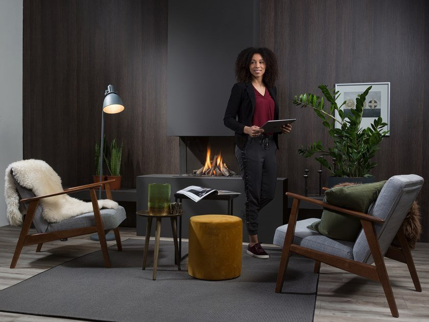 Gas 3-sided fireplace SUMMUM 70 3/S by Element4