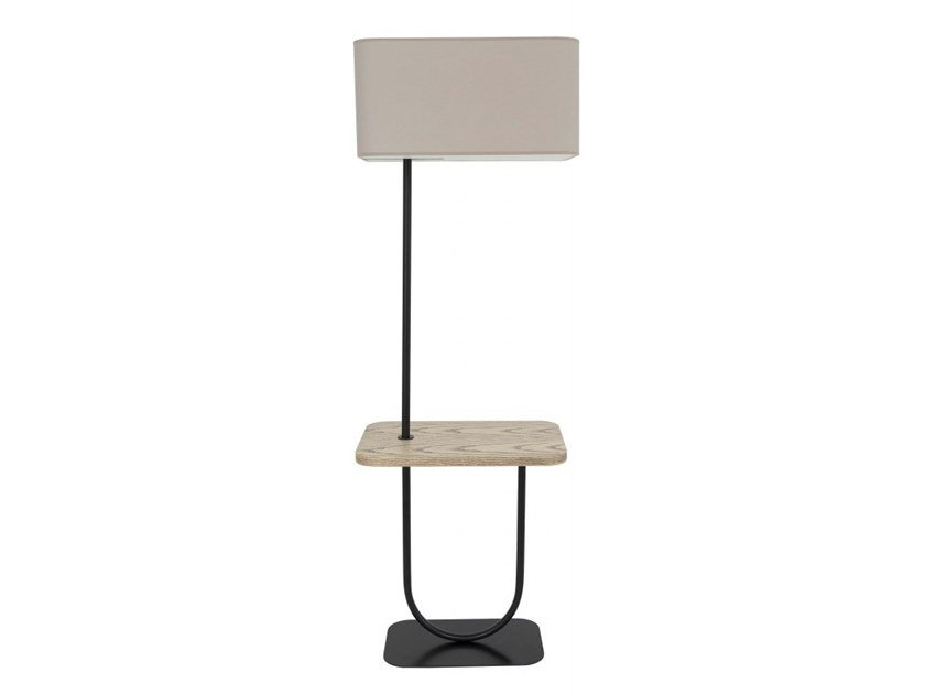Wooden floor lamp / coffee table SUN by Flam & Luce