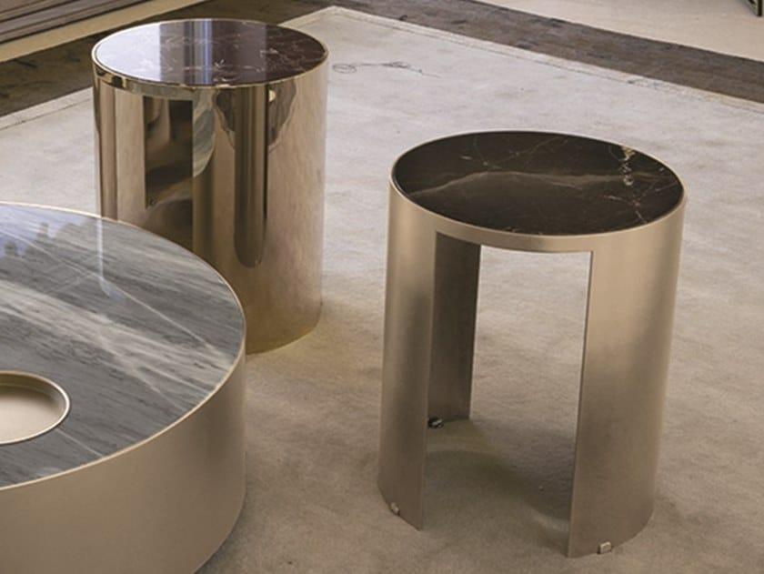 Tavolino alto in marmo SUN | Tavolino alto by Longhi