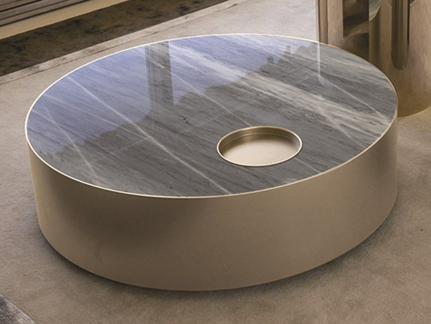 Low Marble Coffee Table Sun By Longhi