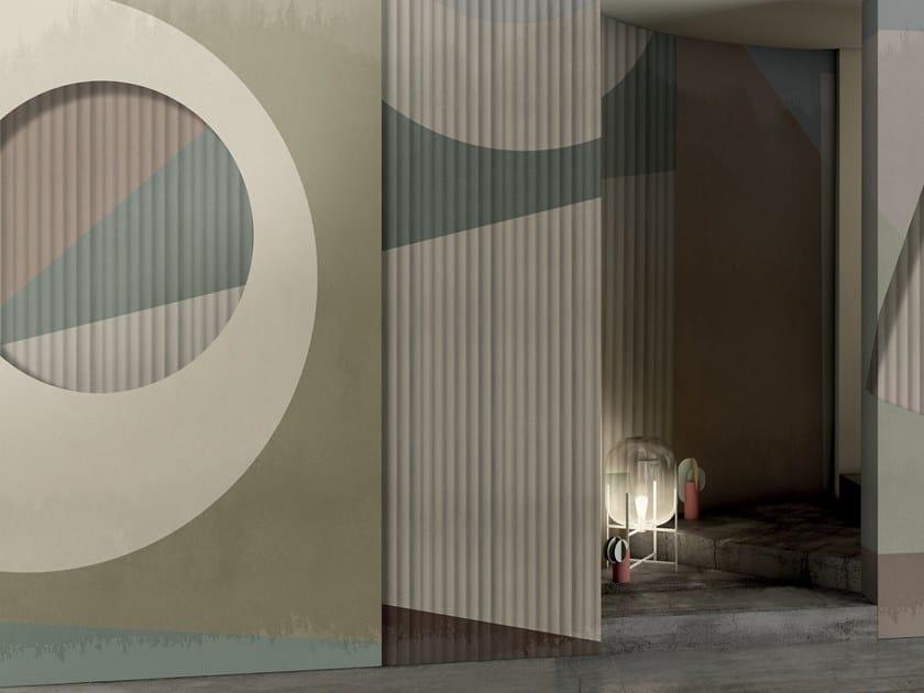 Geometric wallpaper SUN POP by GLAMORA