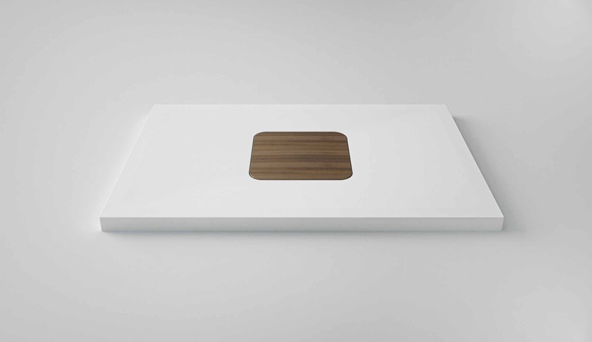 Rectangular Solid Surface® shower tray SUN | Shower tray by Flora Style
