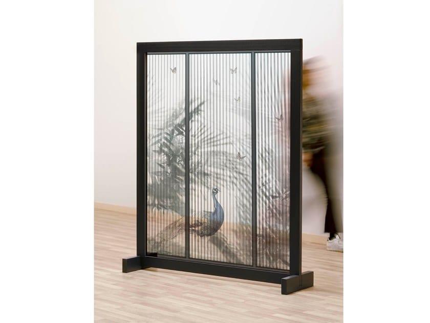Pannello divisorio con natura in IMPEX® e struttura in legno SUN WAY by NC Design Group