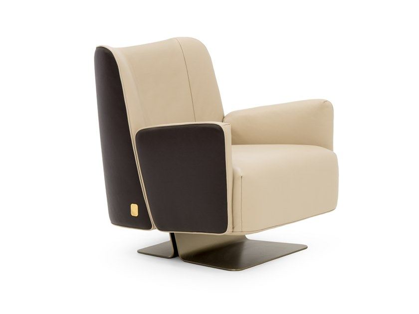 Deerskin armchair SUNRISE by Formitalia