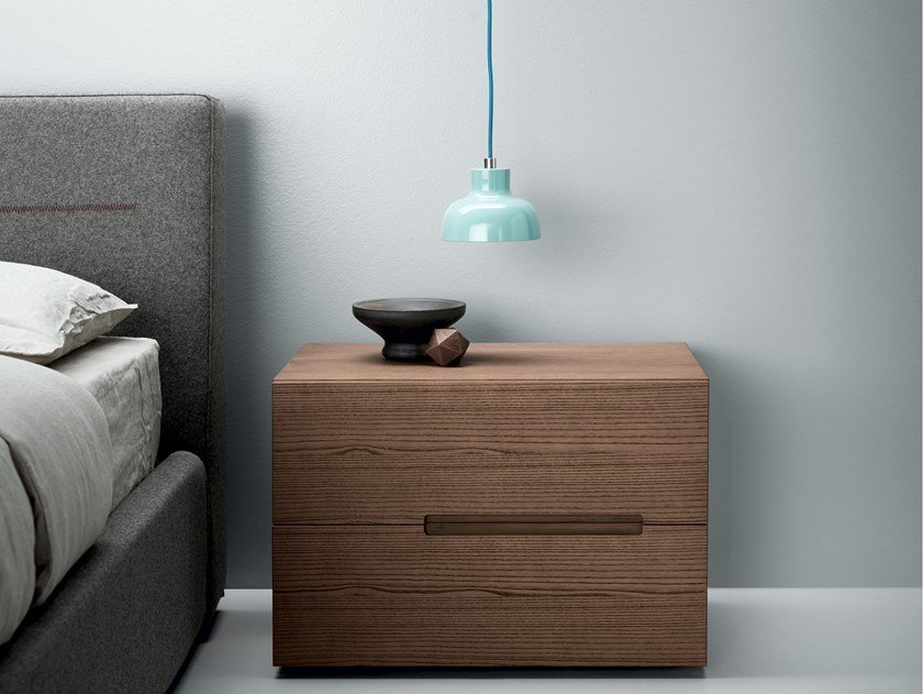 Lacquered bedside table with drawers SUNSET | Bedside table by Md House