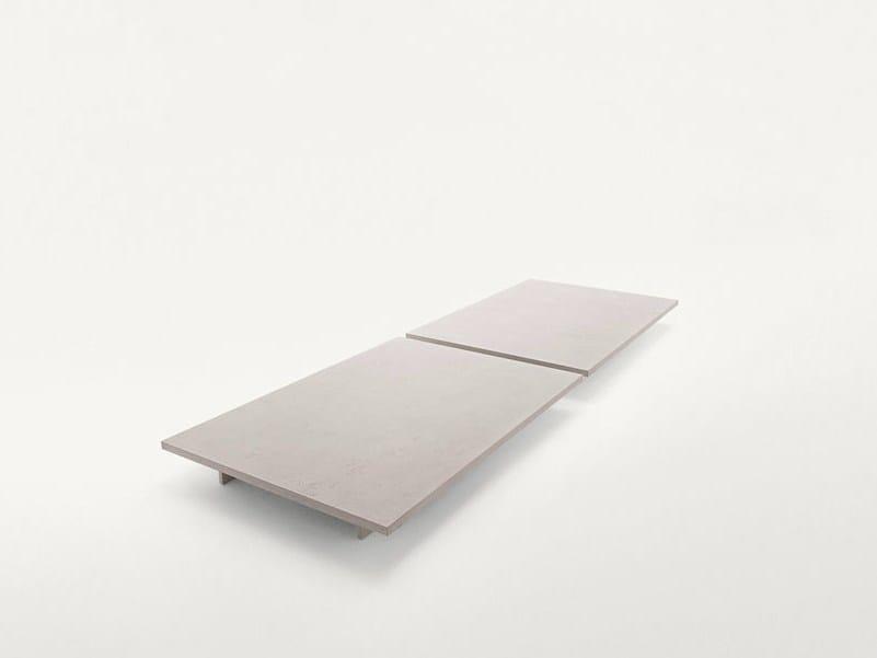 Tavolino basso quadrato in metallo verniciato SUNSET   Tavolino by Paola Lenti