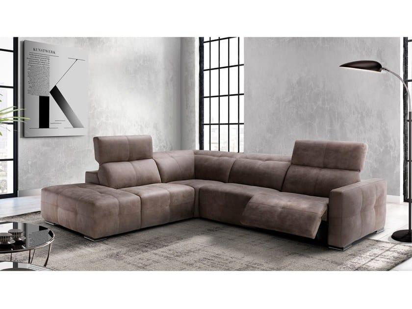 Corner recliner fabric sofa SUNSET by Max Divani